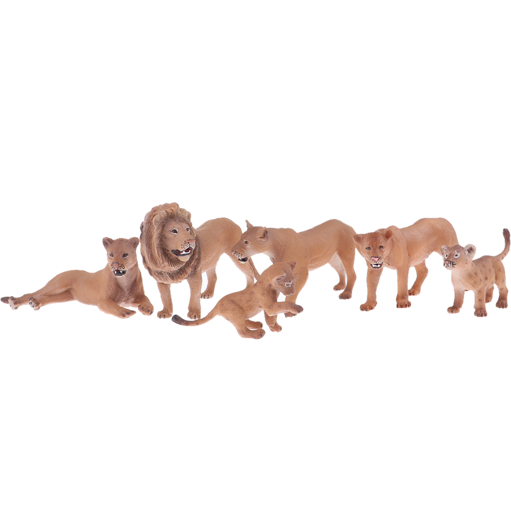 Realistic Lion with Babies Figurines Animal Figures, Easter Eggs Cake Toppers Christmas Birthday Gift