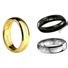 Cheap New Fashion Wild Rings Jewelry Accessories Supreme Lord of the Rings Stainless Ring Lord of the Rings Women Gift Wholesale(China (Mainland))