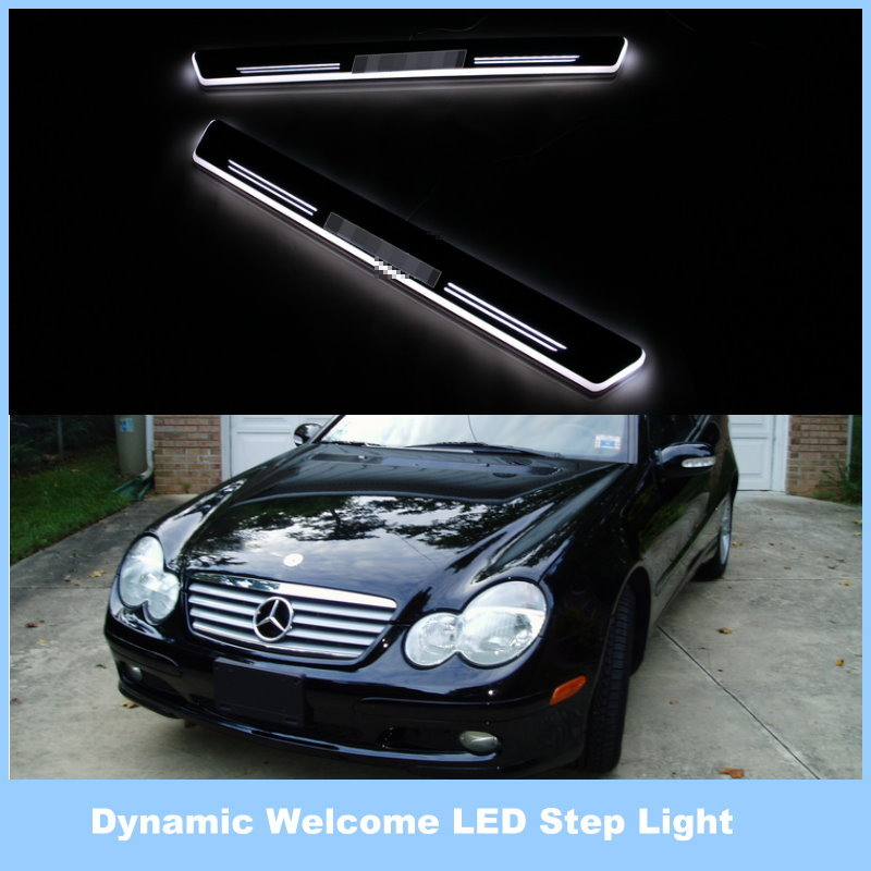For Mercedes Benz C320 C350 / Ynamic Pedal Lights, Streamer Lamp Stylish Cool LED Step Light, Door Welcome Lamp<br><br>Aliexpress