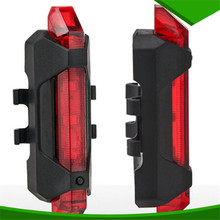 Portable USB Rechargeable Bike Bicycle Tail Rear Safety Warning Light Taillight Red Lamp Super Bright(China (Mainland))