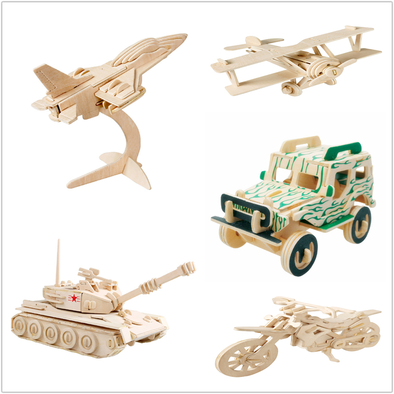 3D Wooden jigsaw transport puzzle children kid educational intelligence development toys gifts promotional gifts(China (Mainland))