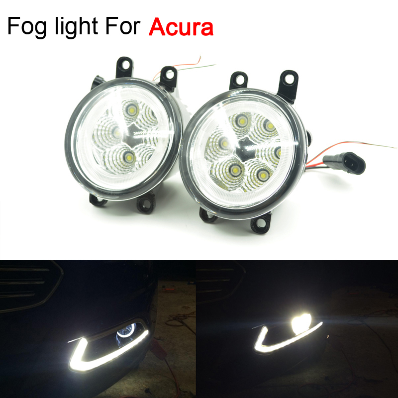Brand New High Power 6x3W Car Styling LED Angel Eyes Light Foglights Assembly For Acura RDX TDX TL ILX Free Shipping<br>