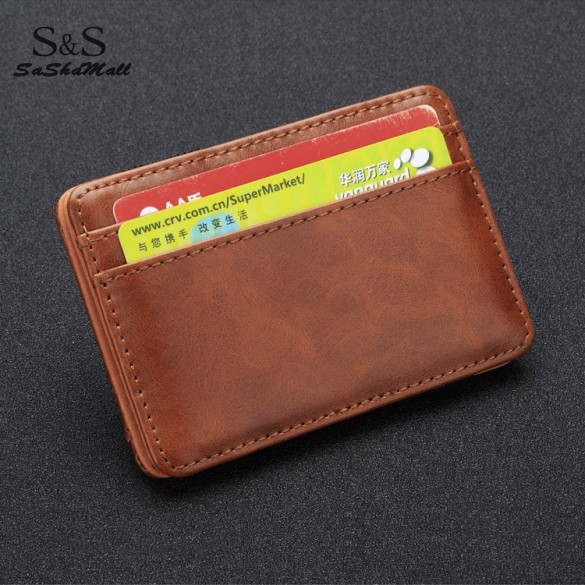 HOT ! Fashion 2015 Brand Men Wallets Synthetic Leather Funny Magic Wallet Credit Card Clutch Holder Purse Casual Wallets 30(China (Mainland))