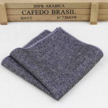 High Quality Hankerchief Scarves Vintage Wool Hankies Men's Pocket Square Handkerchiefs Striped Solid Cotton 23*23cm(China (Mainland))