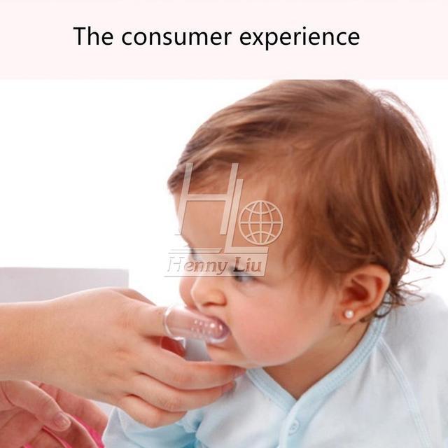 1 Шт. Мягкие Безопасные Детские Силиконовые Пальцев Зубная Щетка Gum Кисть Для Очистить ...