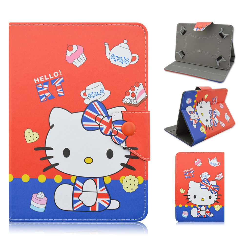 "New Gift 7inch Hello Kitty Universal Folio Leather Stand Case Cover for 7"" CHUWI VI7 V17HD Android Tablet Pc(China (Mainland))"