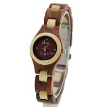2014 nuevos colores moda Wood reloj pulsera para mujeres Stock hechos a mano pulsera moda los relojes