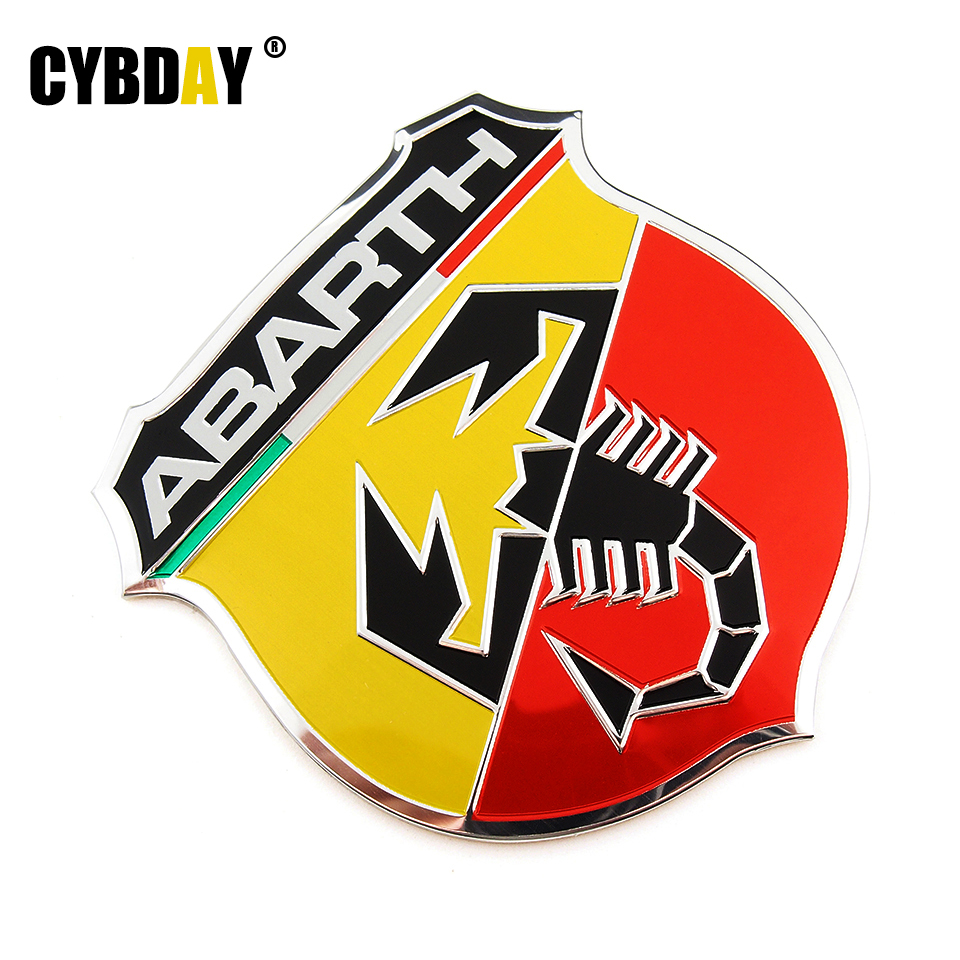 3D 3M Car Abarth Metal Adhesive Badge Emblem logo Decal Sticker Scorpion For All Fiat Abarth Punto 124/125/125/500 Car Styling(China (Mainland))