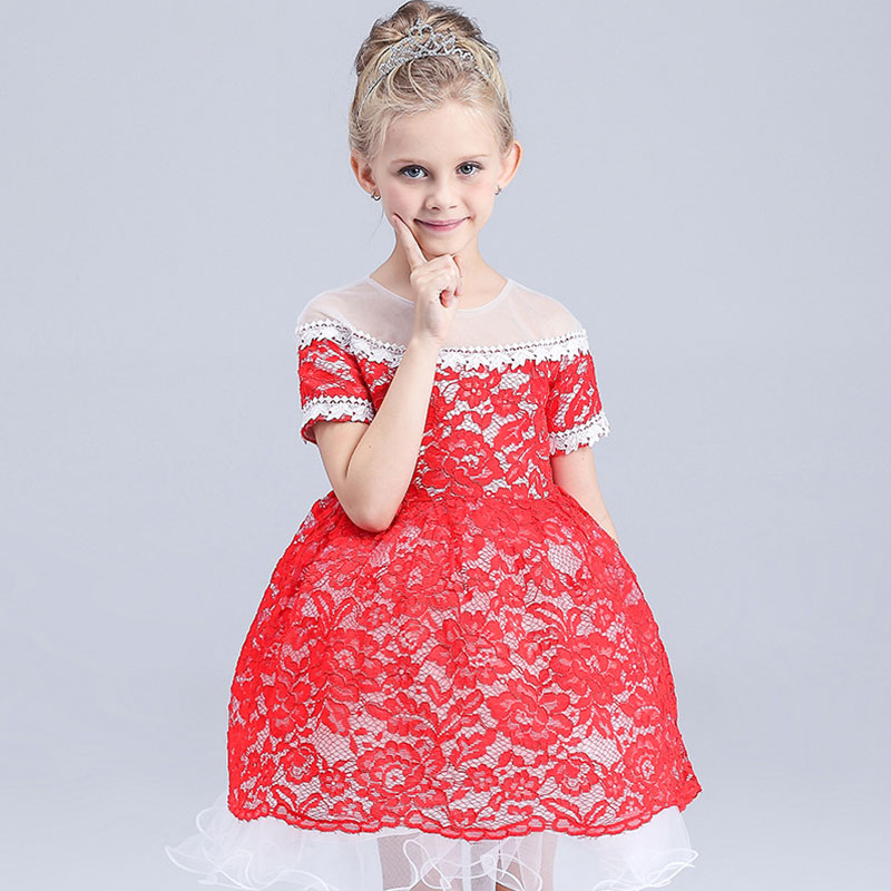 2016 hot selling fashion new summer clothes lace dress kids dress princess dress Kids clothes baby clothing baby girls dress(China (Mainland))