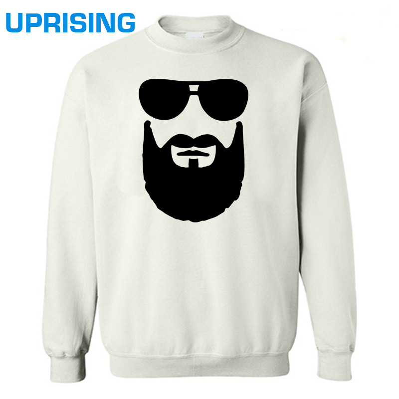 O-Neck Cool Beard Sunglasses Men's Hoodies Sweatshirts New Coming Cool Men's Hoodies Sweatshirts(China (Mainland))