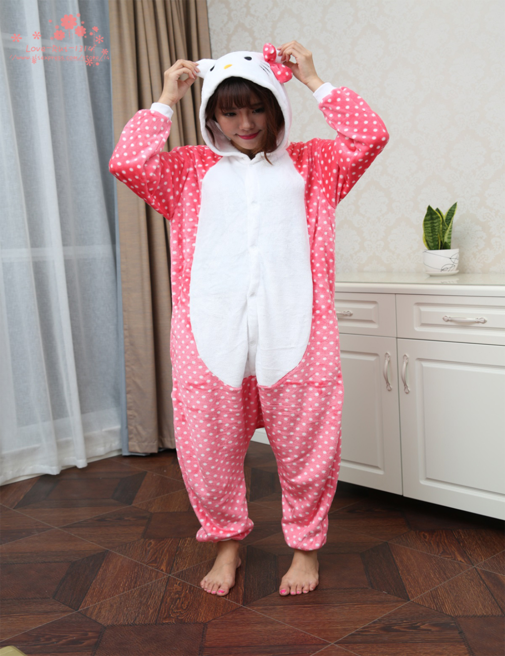 Hotsale 2015 Winter New Sleepsuit Adults Cartoon Cheshire Cat Onesies Unisex Onesies Pajamas Cosplay Costumes Plus Size S/M/L/XL(China (Mainland))