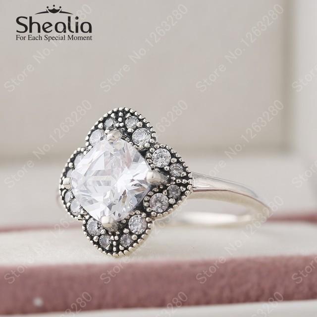 2015 осень кристаллизуют цветочные фантазии ааа цирконий обручальные кольца для женщин 925 стерлингового серебра мода свадебные украшения