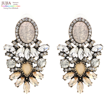 Wholesale good quality big crystal earring 2017 New statement fashion stud Earrings for women(China (Mainland))