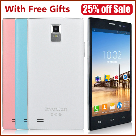 Original Smartphone Android 4.4.2 MTK6572 Android Phones Dual Core 5.5inch 512MB+4GB WCDMA with Play Store(China (Mainland))
