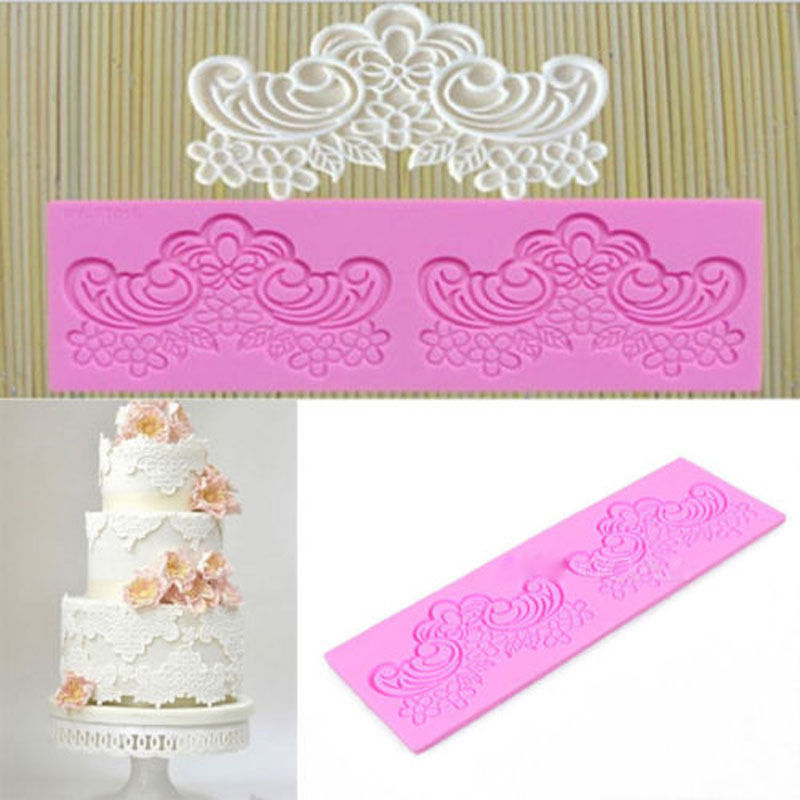 Aliexpress Com 2016 Hot New Fondant Mould Flower Lace Silicone Sugar Mold Tool Craft Wedding Cake Decorating From Reliable Press Set