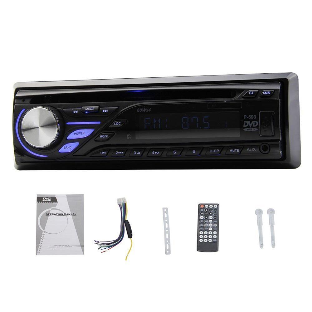 Latest Single Din Car Stereo Detachable Panel Radio FM AM USB SD In Dash Headunit 1 Din Car DVD CD Player(China (Mainland))