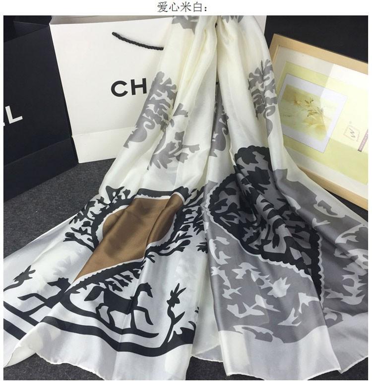 2016 Fashion Silk Scarfs for Women Luxury Brand New 100% Pure Silk Scarf Snake/Floral/Skull Printed Scarf Ladies Beach Shawls