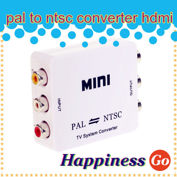 MINI TV System Video Converter PAL TO NTSC/ NTSC TO PAL converter adapter in retail package(China (Mainland))