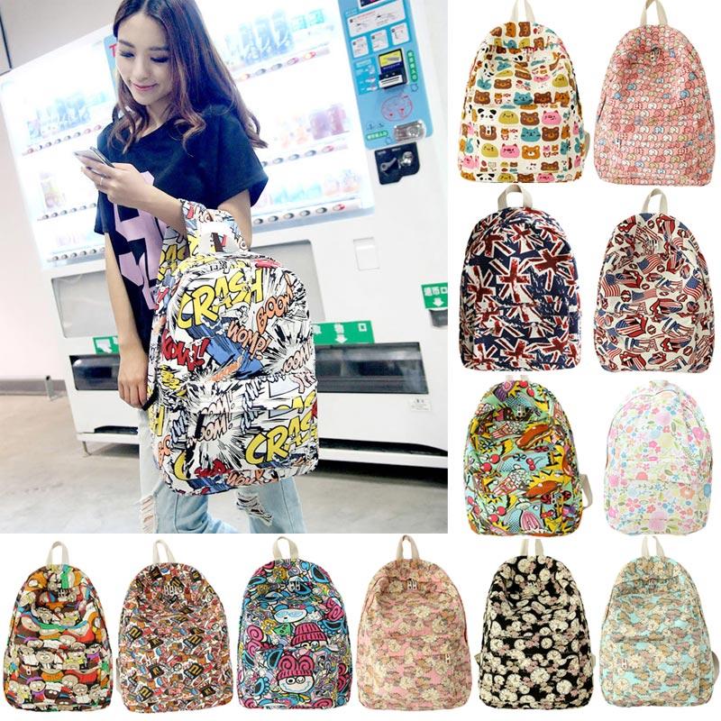 Мода животных печатные рюкзак, Мультфильм письмо печать школьный ранец дорожная сумка для подростков Высокое качество