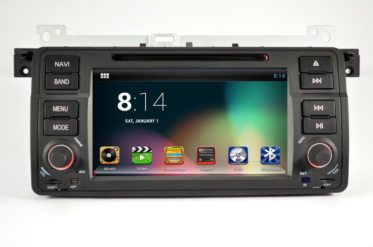 "7"" diginal panel quad core android system car DVD player for E46(China (Mainland))"