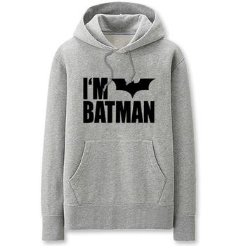 Superhero Batman Cotton Men Hoodies Men's Sweatshirt With Full Sleeve