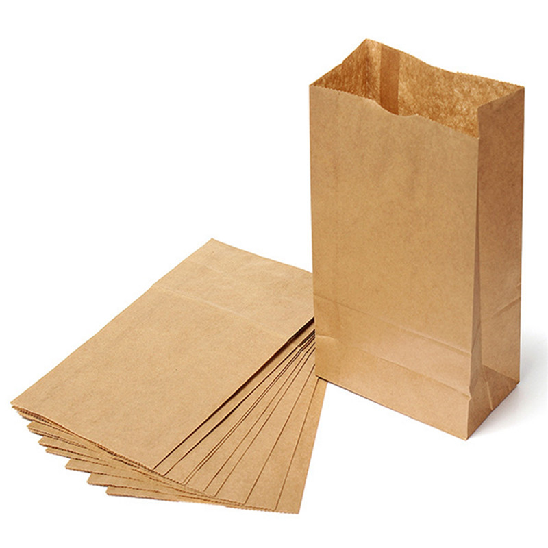 Brown Kraft Paper Gift Bags 10pcs/lot Wedding Candy Packaging Recyclable Jewelry Food Bread Shopping Party Bags(China (Mainland))