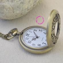 fashion quartz antique pocket watch woman alice in wonderland rabbit cat women vintage fob watches retro