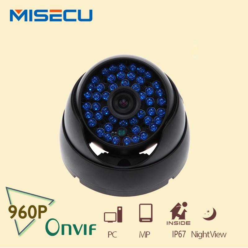 MISECU Wholesale and retail Indoor HD 960P IP Camera 1.3 Mp HD 48pcs Dome 25fps night Security ONVIF IR Cut Camera IP Camera(China (Mainland))