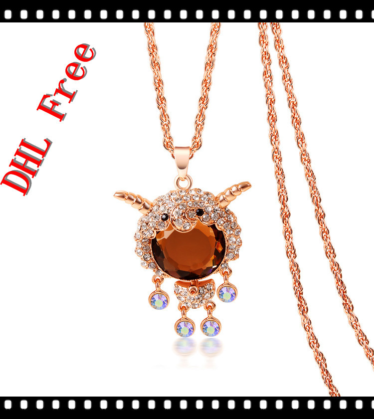 Fashion Necklaces For Women Graceful Long Chain Goat Necklaces Pendants Brand New Luxury Jewelry<br><br>Aliexpress