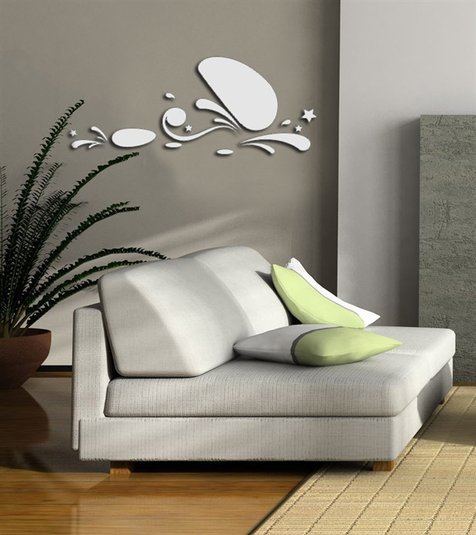 Art Korean TV wall stickers home accessories fashion three-dimensional wall stickers can be removed in addition to mirror the st(China (Mainland))