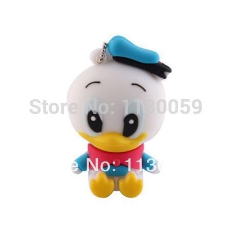 100% real capacity lovely cartoon Donald Duck 8GB 16GB 32GBUSB 2.0 Flash Drive pendrive thumb Car Key Memory Card Pen S243(China (Mainland))