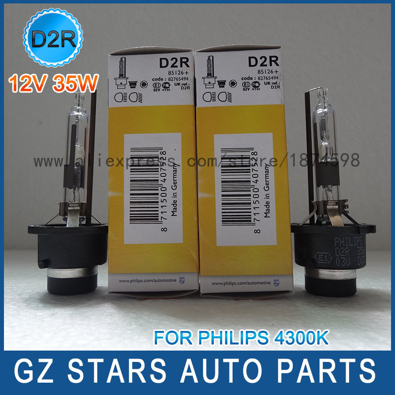 2pcs OEM for philips Xenon D2R 85126 4300K xenon HID headlight bulbs Replace Philips D2R bulbs