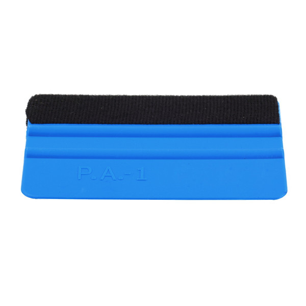 1pc Car Vinyl Film Wrapping Tools Blue Color Scraper Squeegee with Felt for Edge Size Free