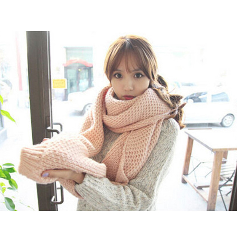 New Thick Scarf Men Women Warm Solid Scarf Couples Collar Winter Warm Lengthen Fashion Scarf(China (Mainland))