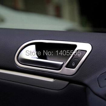 inside door handle cover ring modified special stainless steel boutique For Volkswagen vw Tiguan 2009-2014