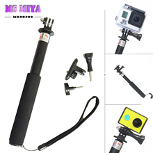 Monopod Tripod For Camera With Gopro Mount Adapter tripe stick for Gopro hero 3 4 SJ4000 Action Camera Xiaomi Yi Accessories