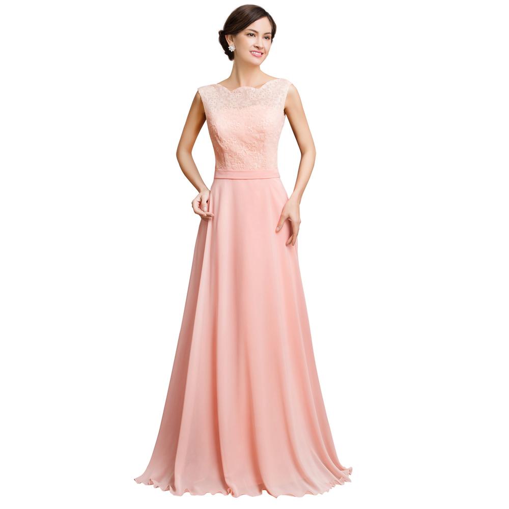 vestidos boda noche rosa clara