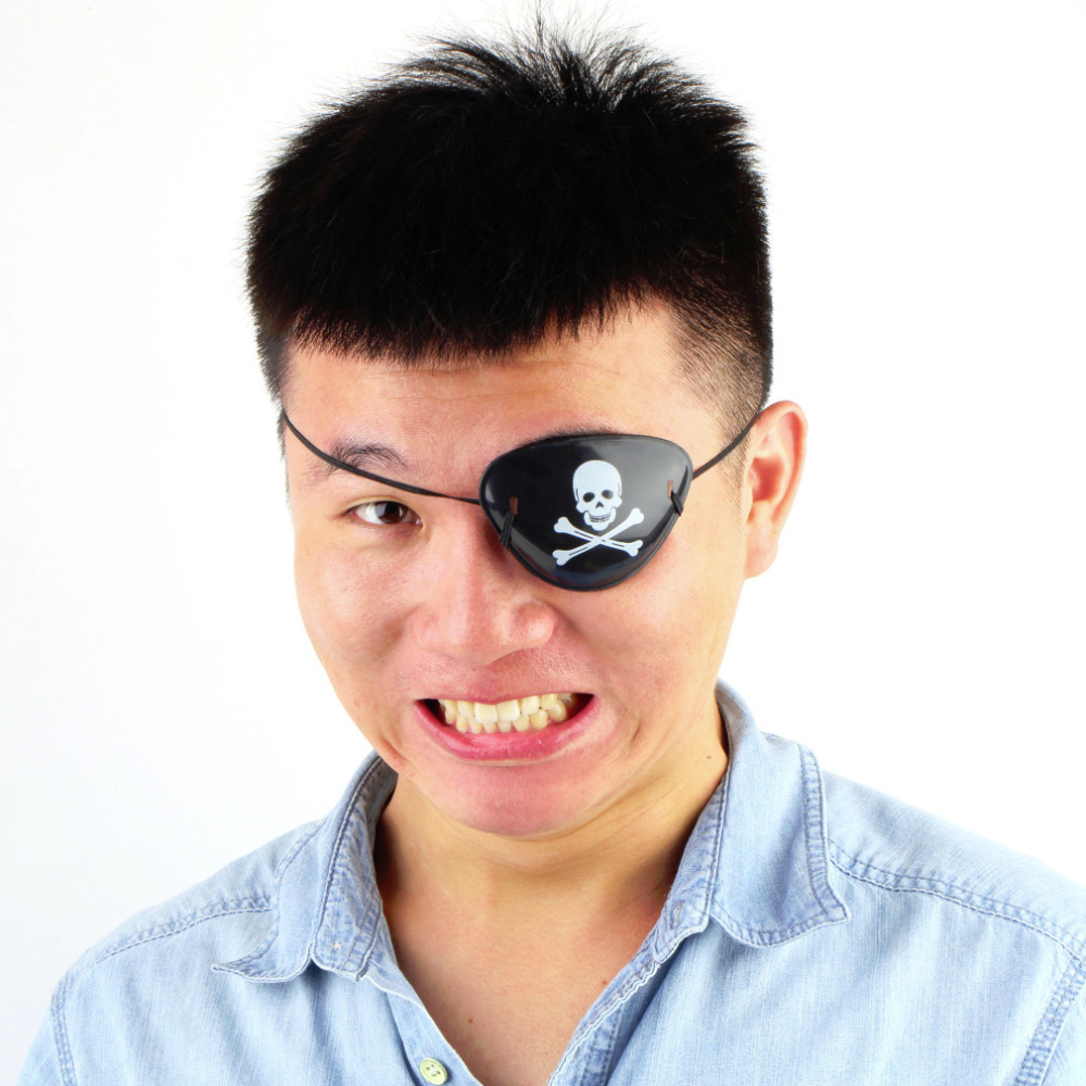 1PC Worldwide Pirate Eye Patch Skull Crossbone Halloween Party Favor Bag Costume Kids Toy Hot Selling