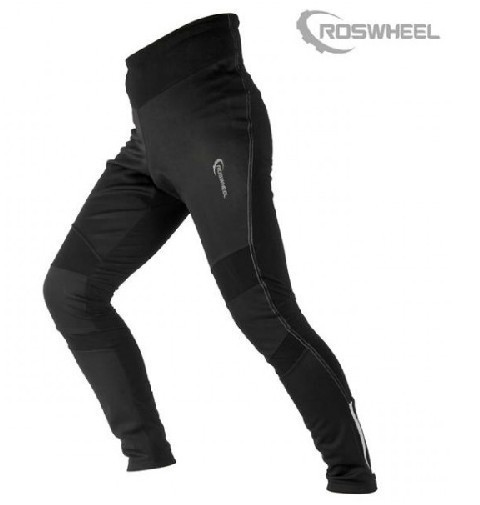 ROSWHEEL Outdoor Sports Bike Cycling Bicycle Pants Trousers Tights Fleece Thermal Windproof Mens Casual Shorts Cycle Wear Black - Lanting Products Co.,Ltd. store