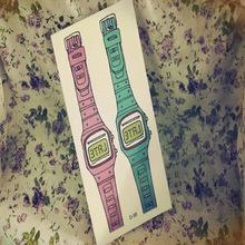 Harajuku Waterproof Disposable Tattoo Stickers Fashion Sexy Wrist Watch Design Water Transfer Temporary Tattoo Sticker(China (Mainland))