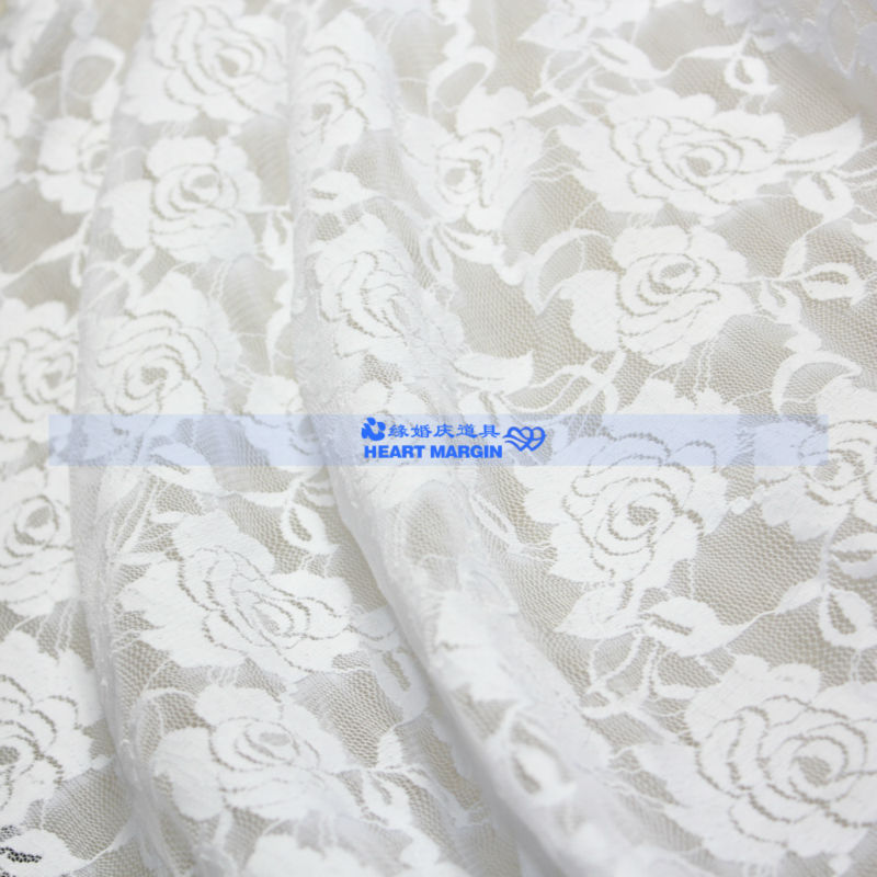 1.5 meters width rose elastic lace cloth lace background cloth lace tablecloth lace cloth wedding props(China (Mainland))