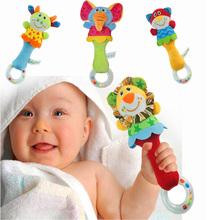 22CM Developmental Animal Soft Stuffed Infant Baby Plush Toys Rattles Kids Plush Animals Toys(China (Mainland))