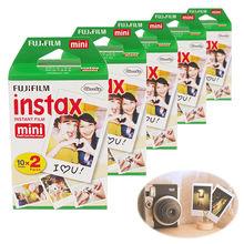 High qulaity 100 Sheets Fujifilm Fuji Instax Mini Film White Sheet For Polaoird 300 7 7s 8 10 20 25 50s 50i SP1 dw free shipping