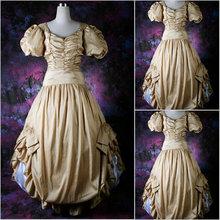 Freeship!Customer-made Vintage Costumes Victorian dress Renaissance Dress Steampunk dress Gothic Cosplay Halloween Dresses V-71