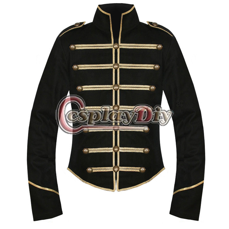My Chemical Romance Parade Military Jacket Black Gold Cosplay Costume Custom Made D0914Одежда и ак�е��уары<br><br><br>Aliexpress