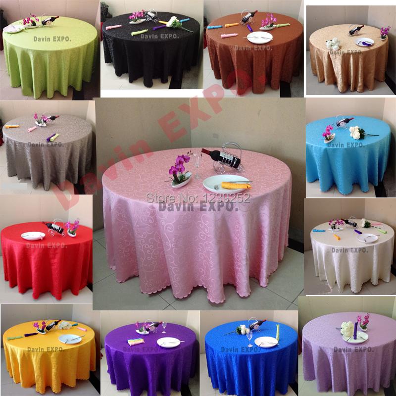 nouvelle mode 94 polegada ronde 240 cm de table jacquard tissu banquet polyester nappe pour de