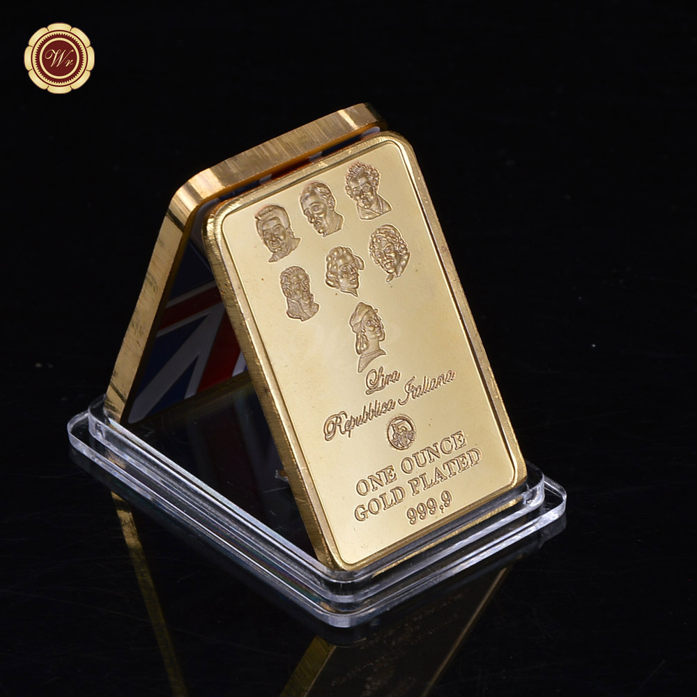Hot Sale One Ounce Gold Plated 999.9 The Collector Coin High-end 1 oz Gold Bar For Value Collection(China (Mainland))