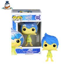 [QuanPaPa] Genuine Original FunKo POP Inside Out Joy 132 Model Action Figure doll car Decoration kids toys