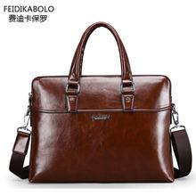 FD BOLO Brand Bag Men Leather Briefcase Portadocumentos Men Laptop Tote Bag Mens Portafolios Maletin Hombre Men Messenger Bags(China (Mainland))