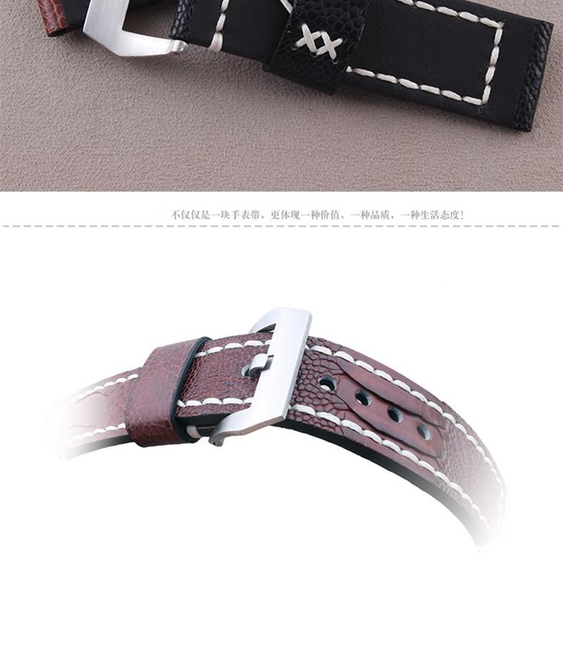 Часы полоса 24 мм 26 мм новые люди в реальном из натуральной кожи страуса кожи ремешки ремешки часы Accessrioes браслеты часы пряжка